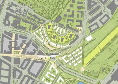 Städtebaulicher Ideenwettbewerb Stuttgart Budapester Platz/Friedhofstraße